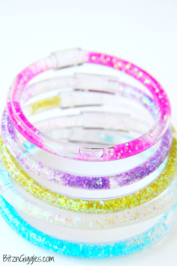 DIY glitter friendship bracelets