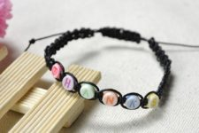 DIY simple friendship bracelets with letters