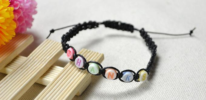 DIY simple friendship bracelets with letters (via lc.pandahall.com)