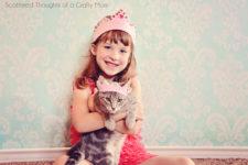 DIY pink felt jeweled princess crown