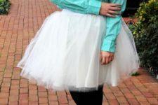 DIY Carrie Bradshaw style tulle skirt