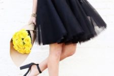DIY black over the knee tutu skirt