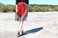 DIY two layer tutu skirt