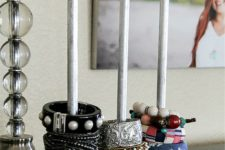 DIY bangle holder from a child's toy