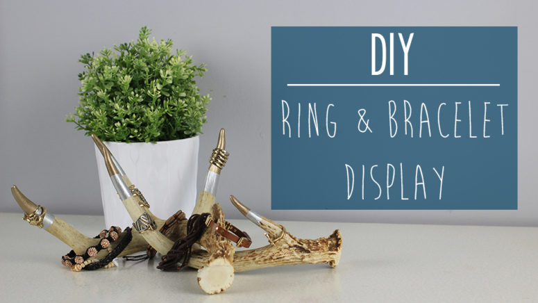 DIY ring and bracelet display from antlers (via https:)