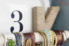 DIY cuff bracelet holder