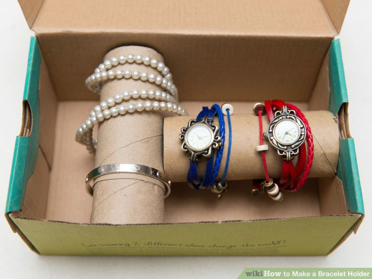 DIY bracelet and watch holder in a box (via www.wikihow.com)