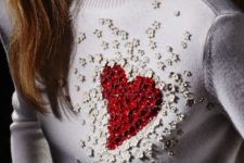 04 bold embellished red heart sweater