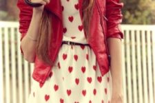 red valentine outfit