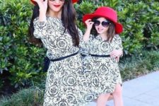 15 printed dresses, red shoes and hats, sunglasses