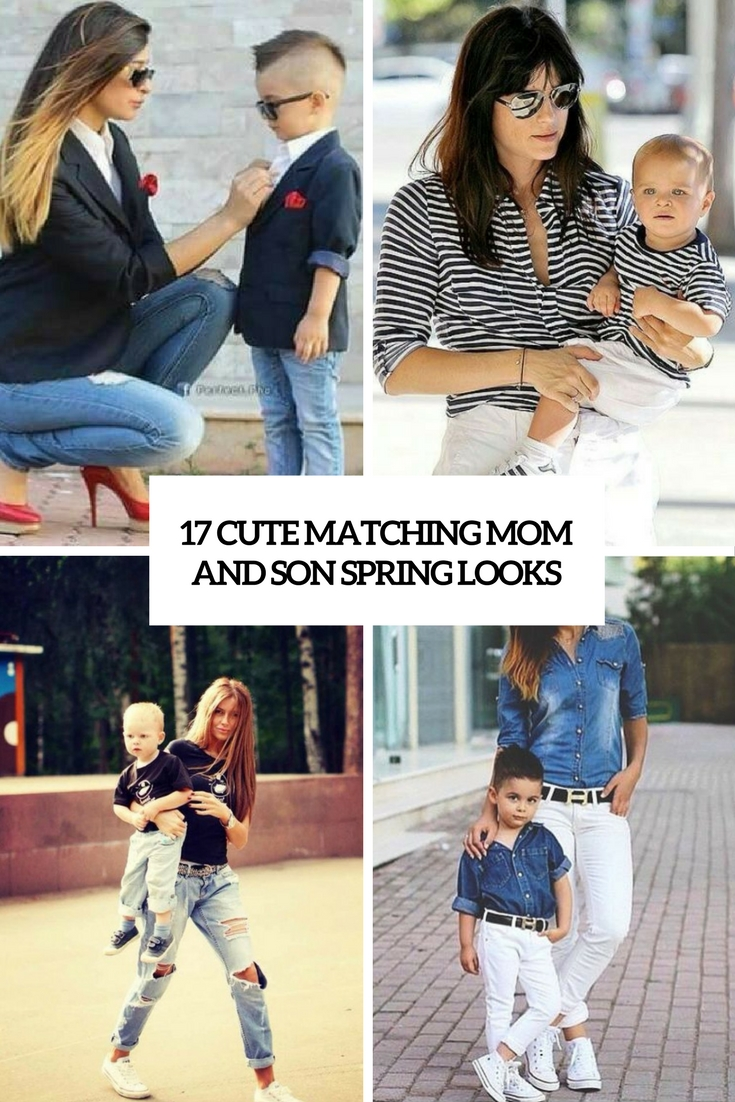 cute matching mom and son spring looks cover