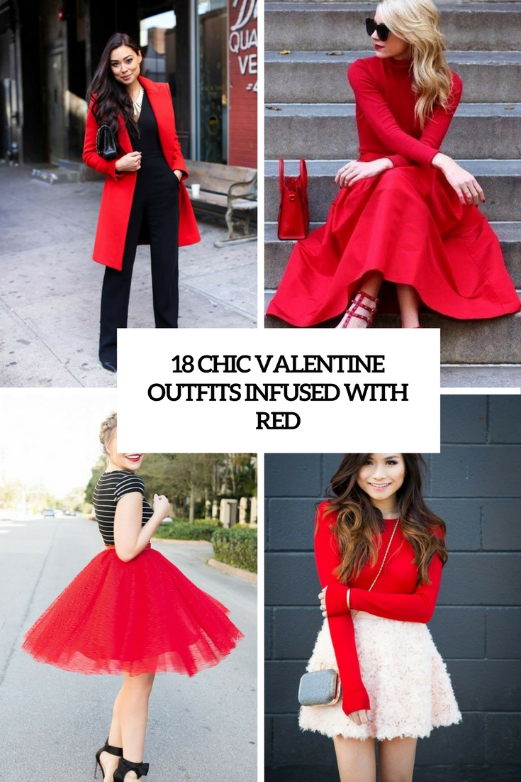 18 Chic Valentine Outfits Infused With Red