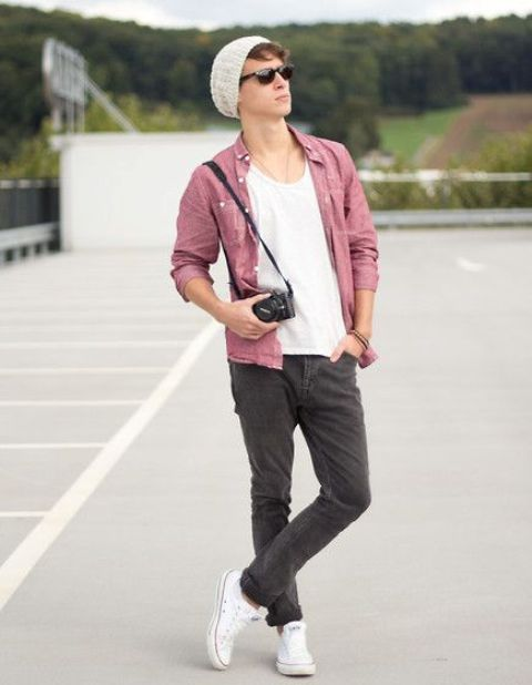 cad64e0c053 21 Comfy Spring Men Outfits With Converse - Styleoholic