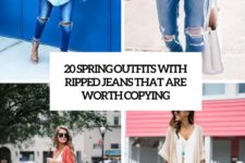 20 spring outfits with ripped jeans that are worth copying cover