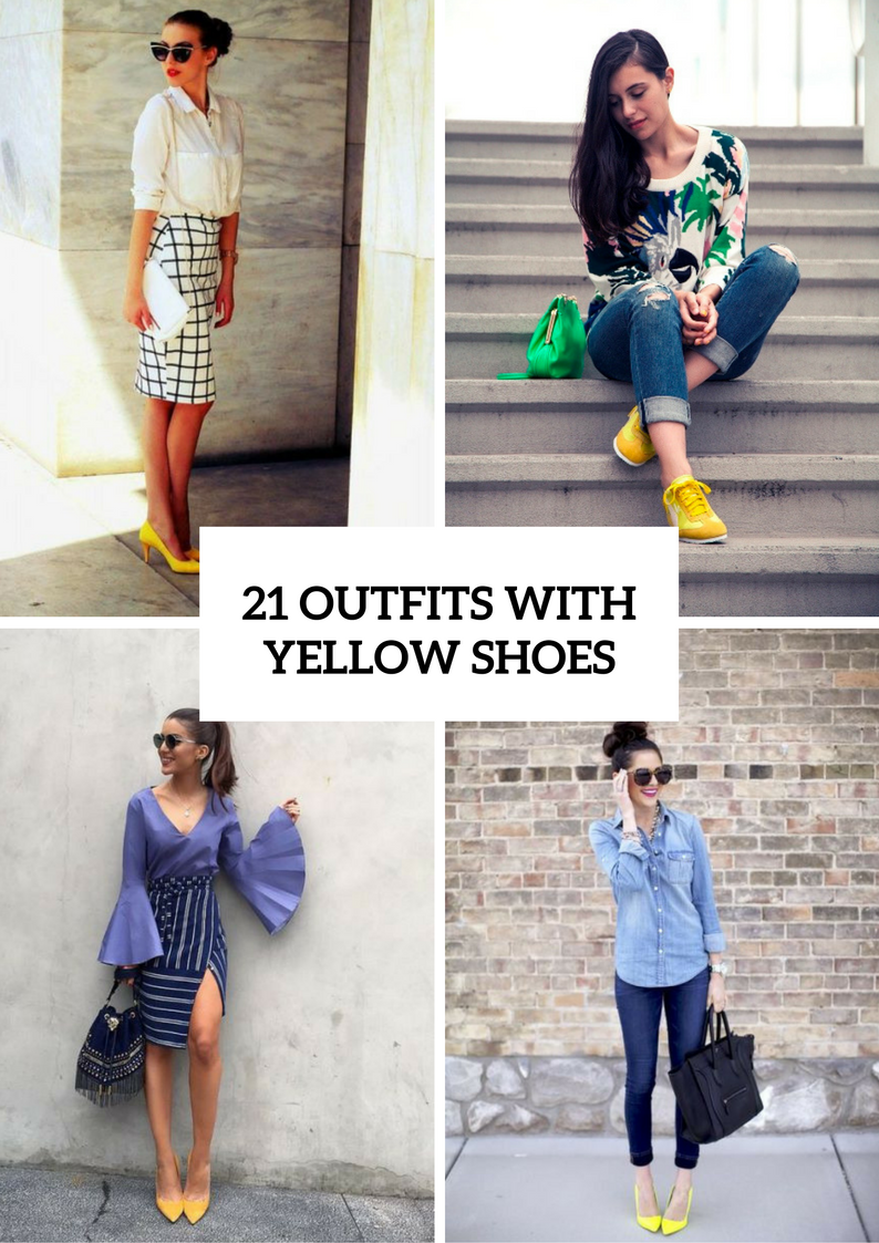 Cool Outfit Ideas With Yellow Shoes