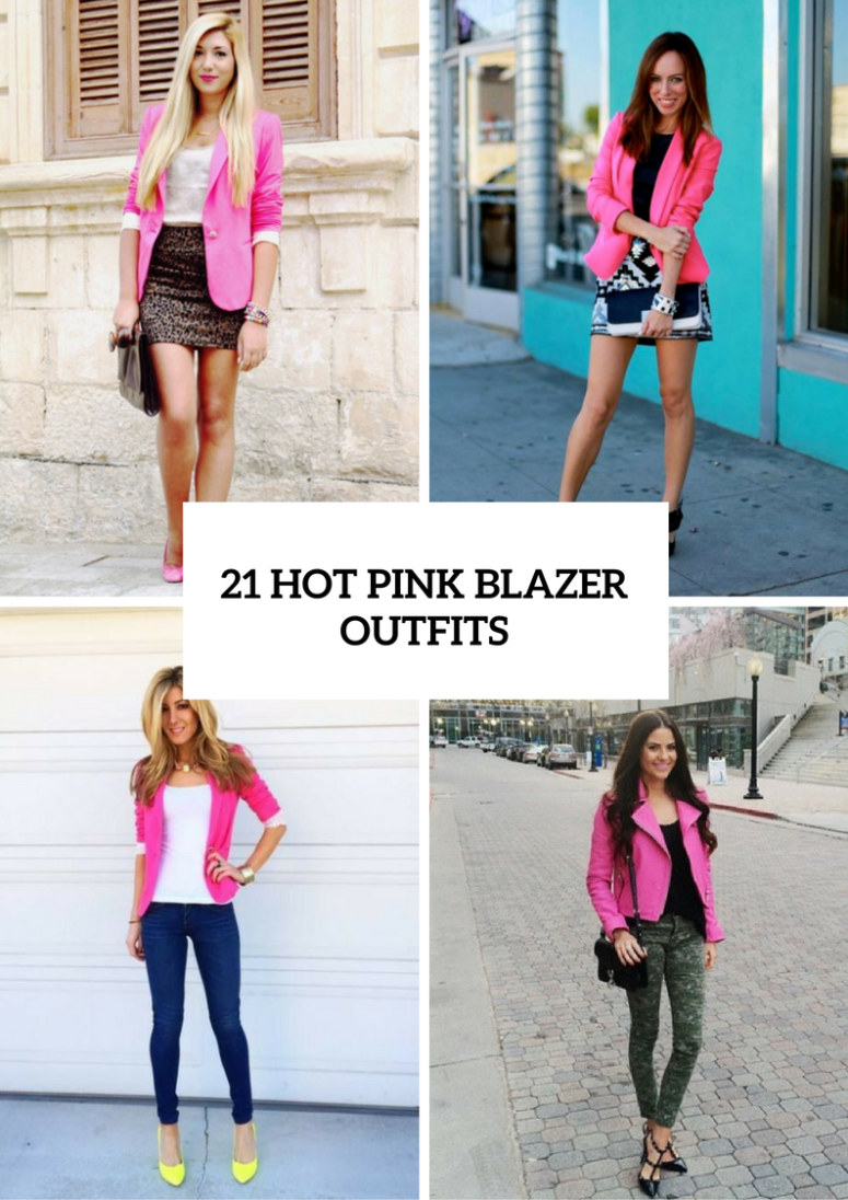 21 Hot Pink Blazer Outfits For Women