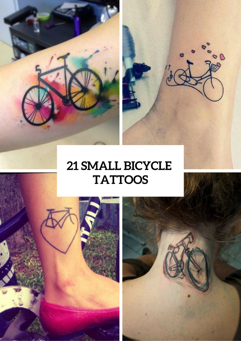 Small Bicycle Women Tattoo Ideas To Repeat