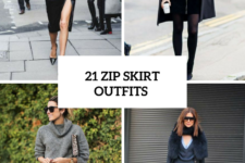 21 Wonderful Zip Skirt Outfits To Try