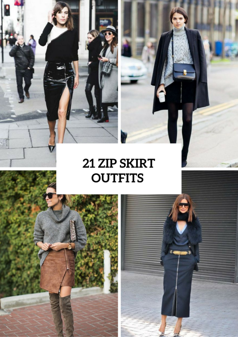 Wonderful Zip Skirt Outfits To Try