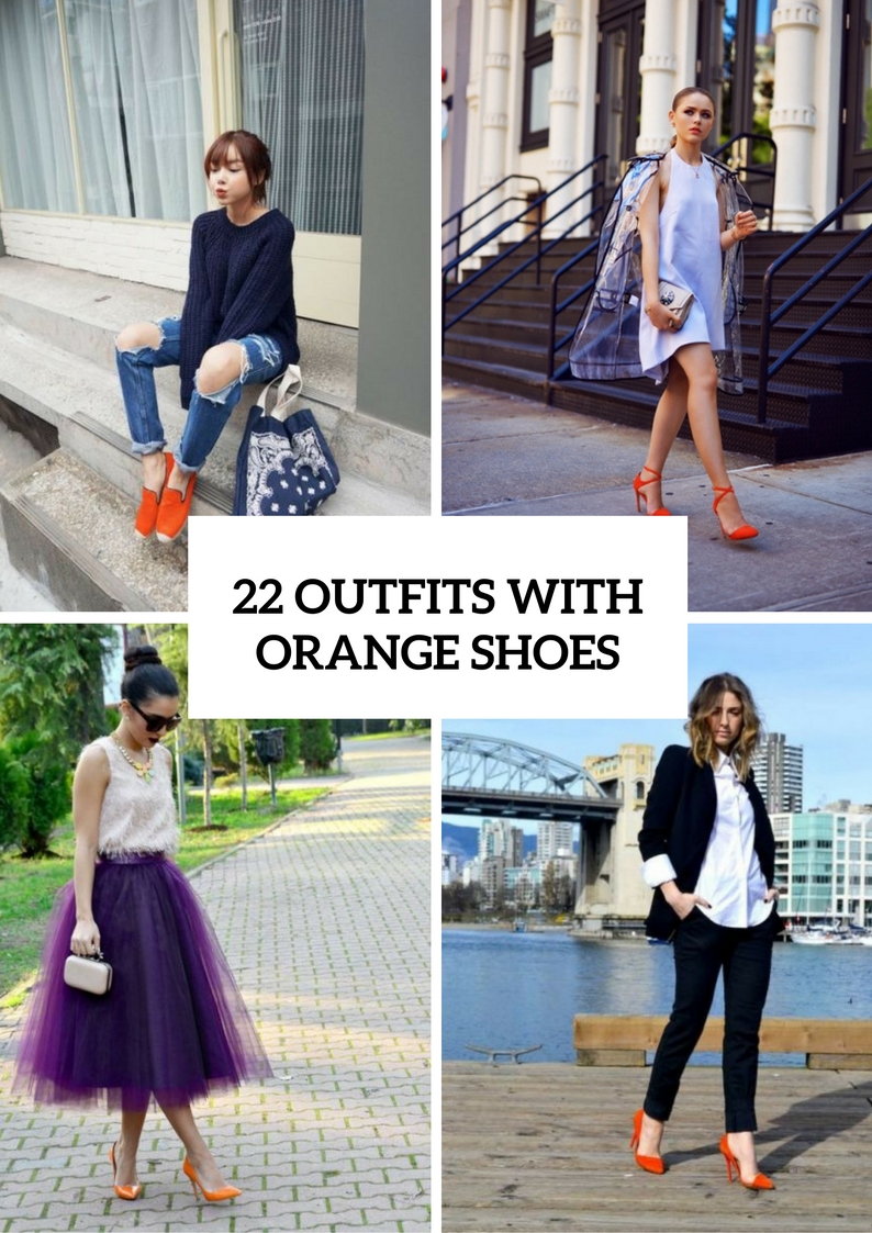 Excellent Spring Outfit Ideas With Orange Shoes
