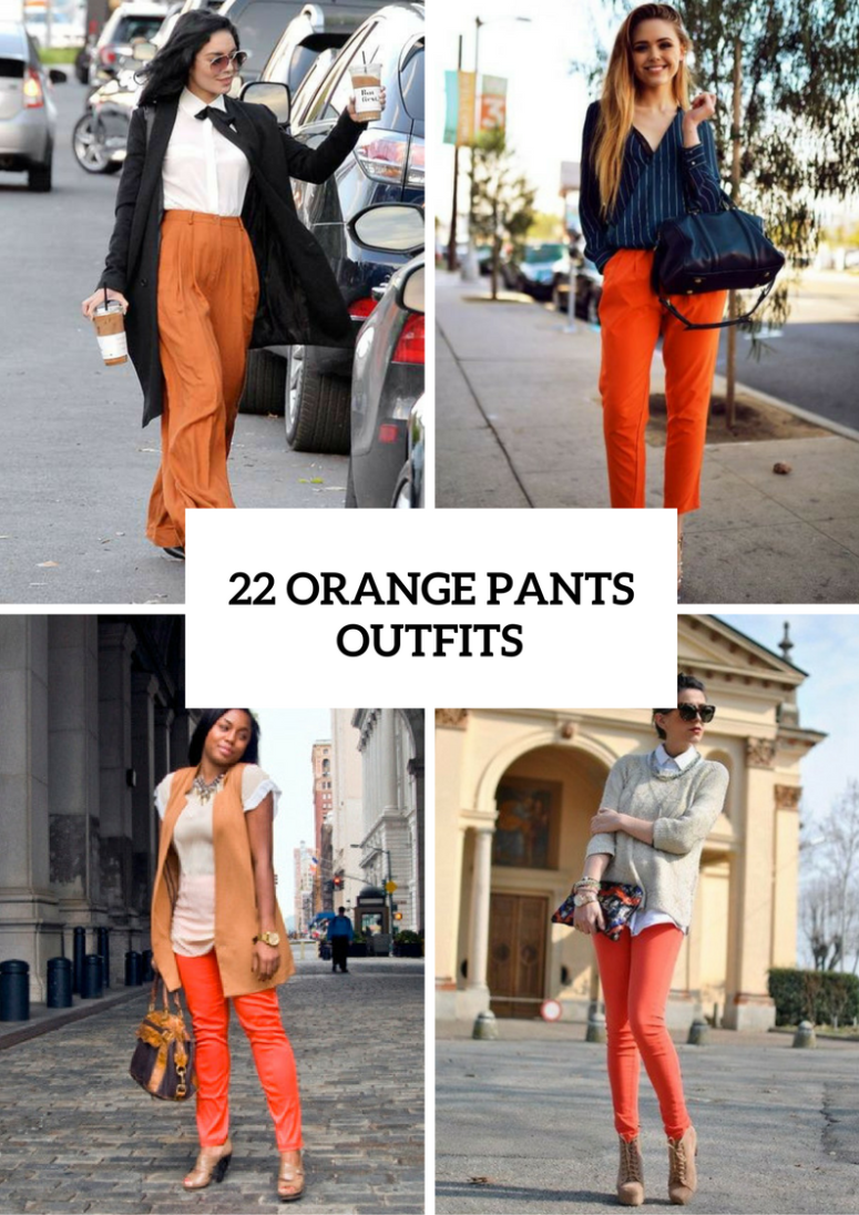 22 Orange Pants Outfits For Fashionistas