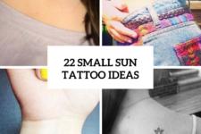 22 Small Sun Tattoo Ideas For Ladies