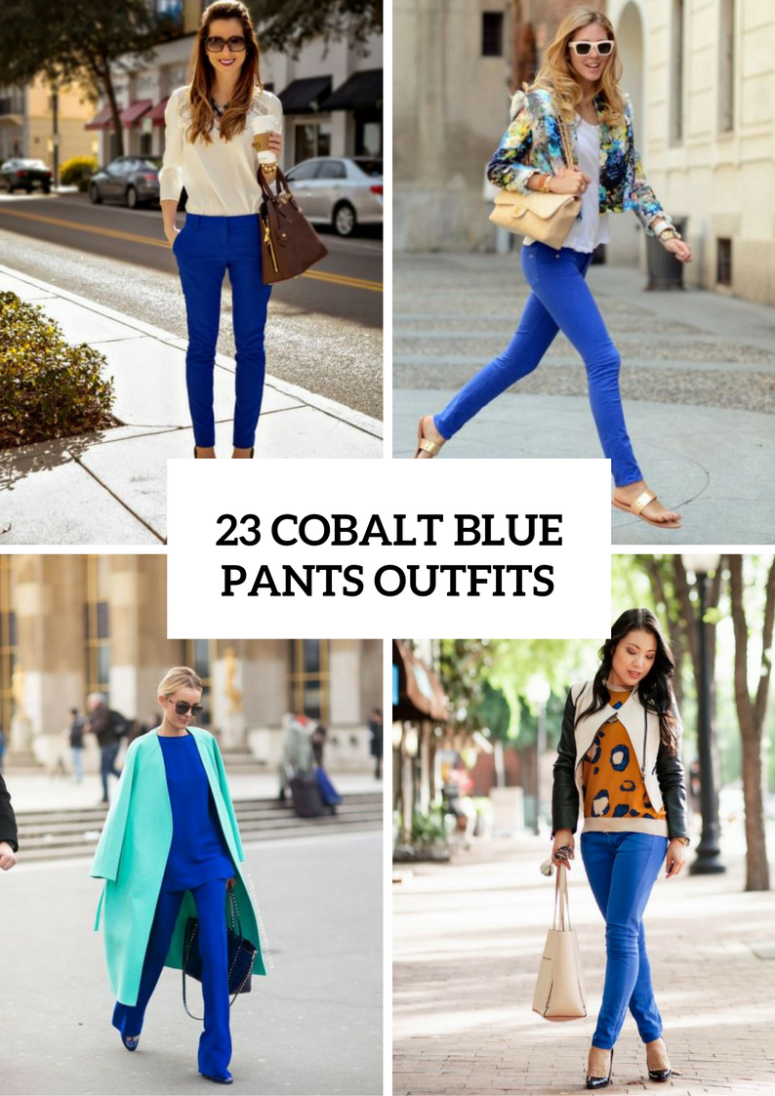 23 Cobalt Blue Pants Outfits For This Spring