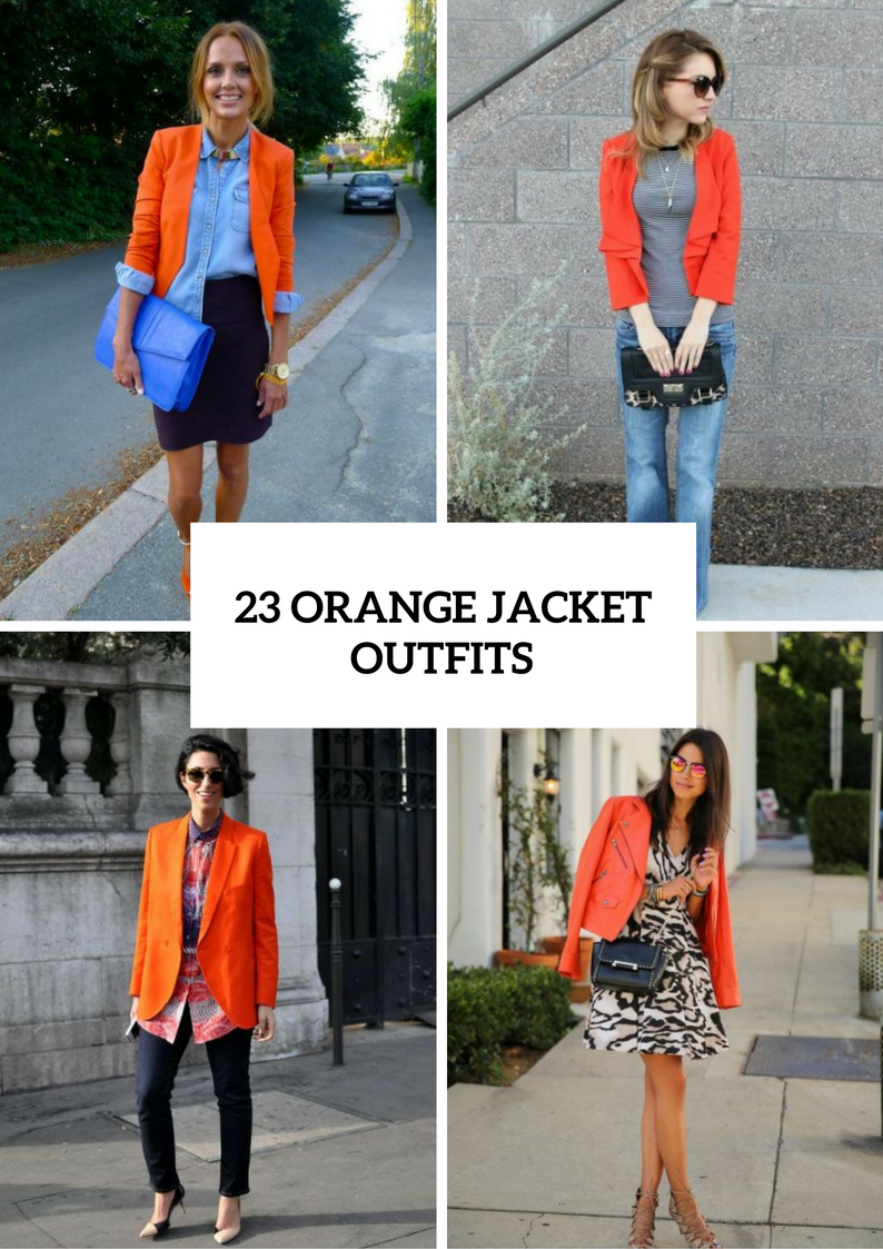 Orange Jacket Outfits For Spring