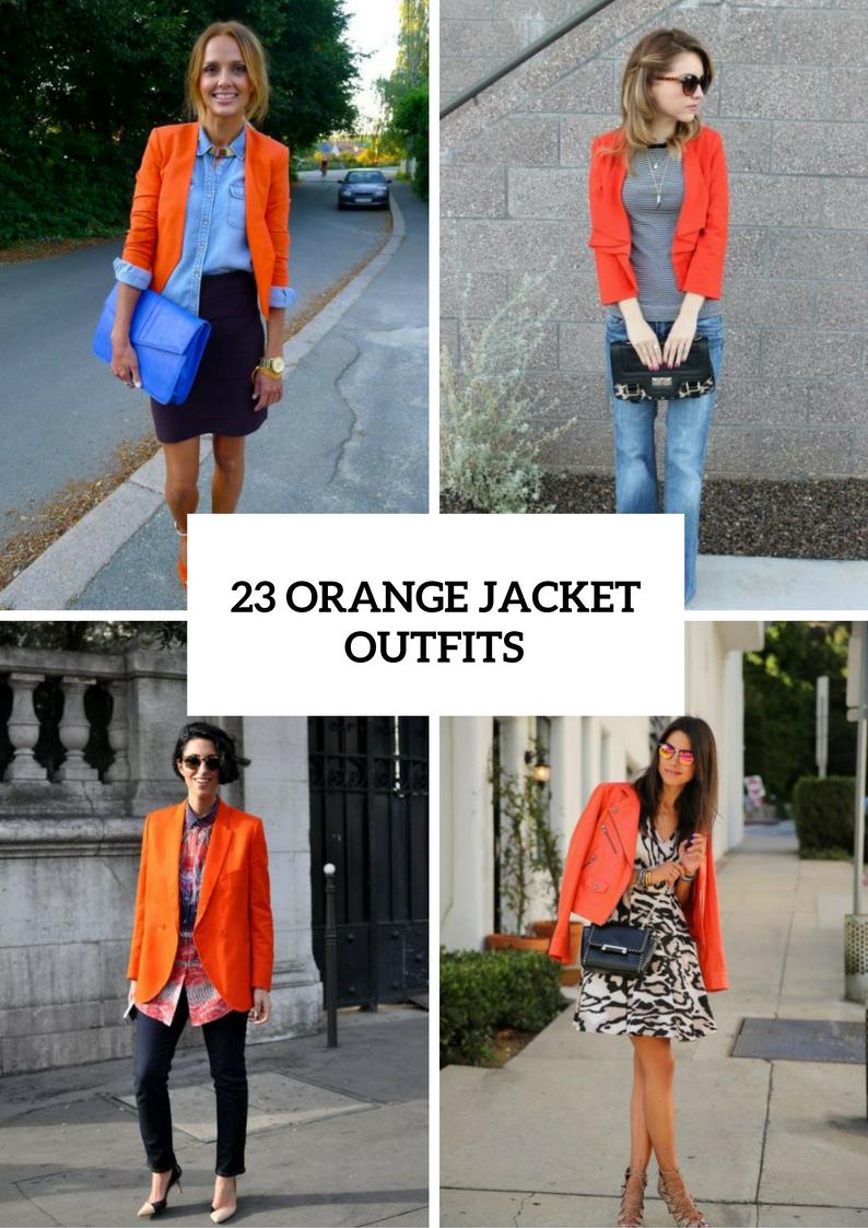 Orange Jacket Outfits For Spring