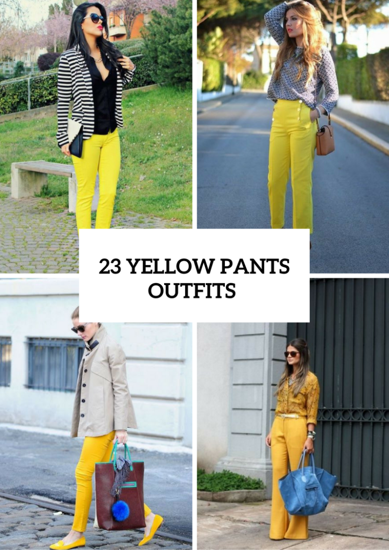 23 Spring Outfits With Yellow Pants For Women