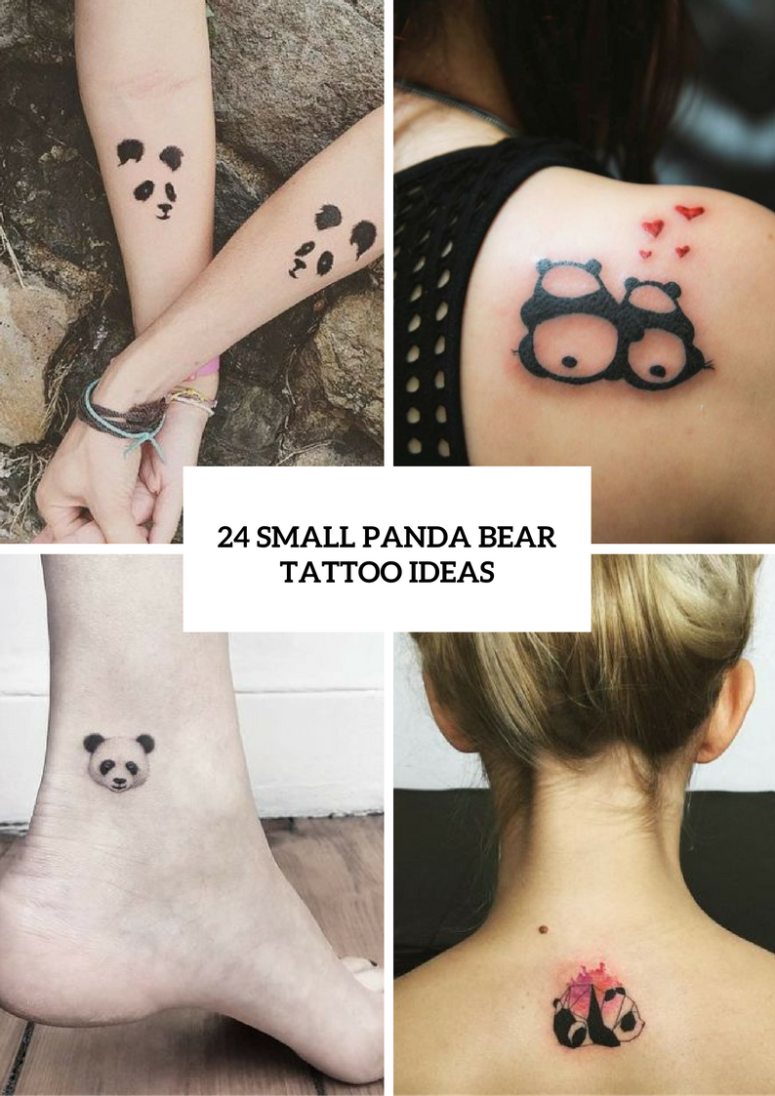 24 Small Panda Bear Tattoo Ideas For Girls \u2013 OBSiGeN