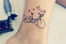 Bicycle and hearts tattoo