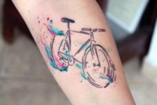 Colored bicycle tattoo