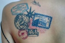 Cool travel tattoo idea