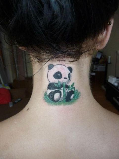 Original tattoo on the neck