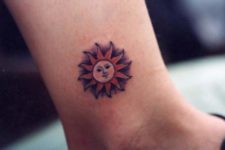 Red sun on the ankle