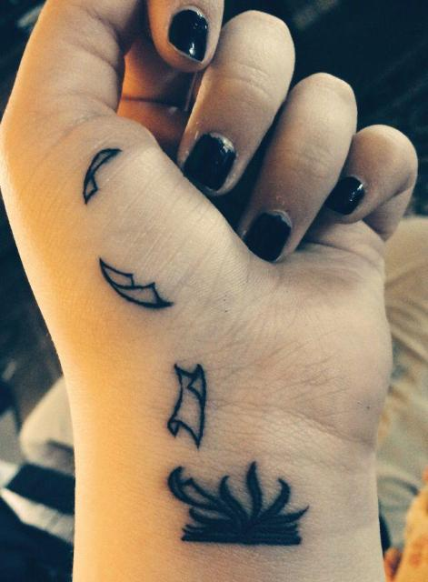 Tattoo design on the wrist