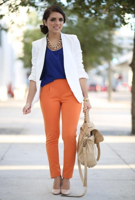 22 Orange Pants Outfits For Fashionistas - Styleoholic