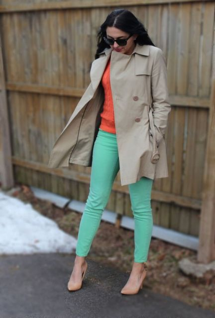 22 Women Outfits With Mint Pants To Repeat Styleoholic