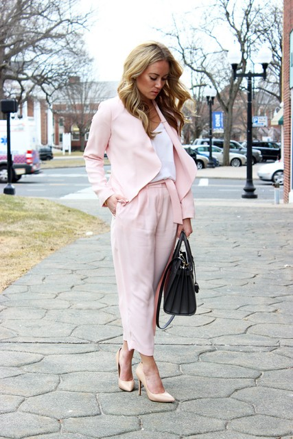 21 Feminine Pale Pink Pants Outfits Styleoholic