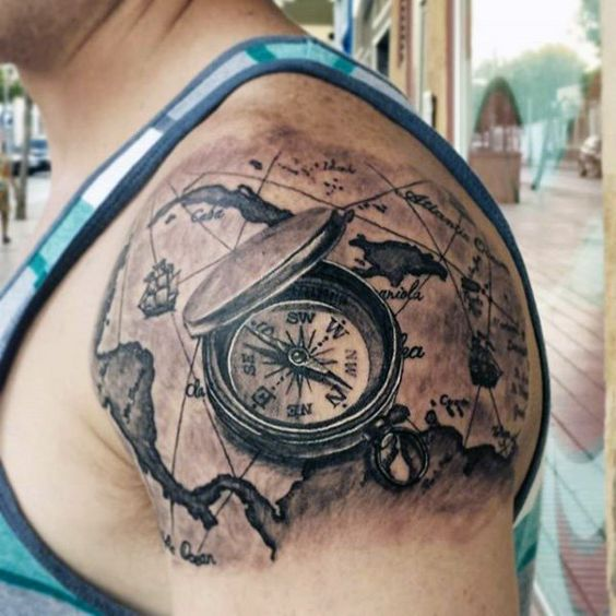 23 Great Compass Tattoo Ideas For Men recommendations