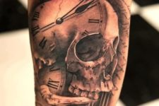 11 a clock, skull and bone tattoo meaning how fast the time goes