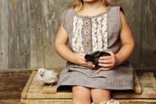 vintage girl's look