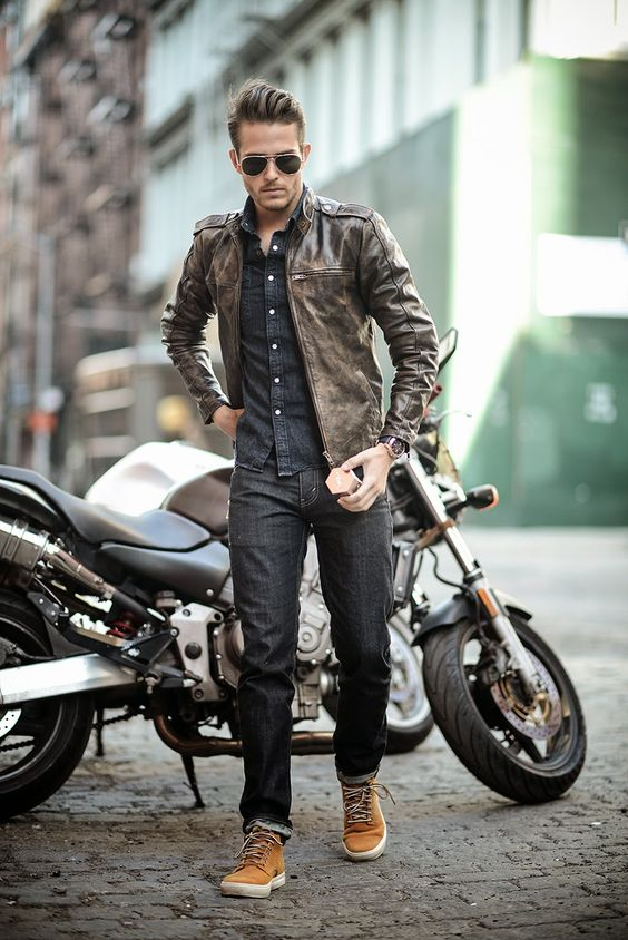 18 Stylish Spring Men Outfits With A Leather Jacket - Styleoholic