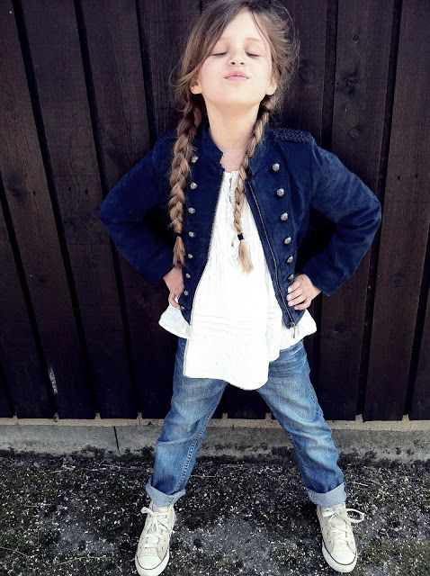 blue jeans, a white tee, grey chucks and a navy jacket