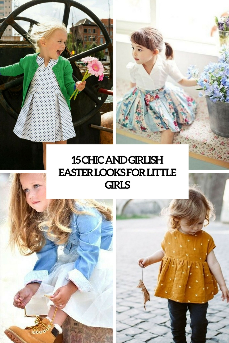 15 Chic Ways To Tie A Scarf: 15 Chic And Girlish Easter Looks For Little Girls