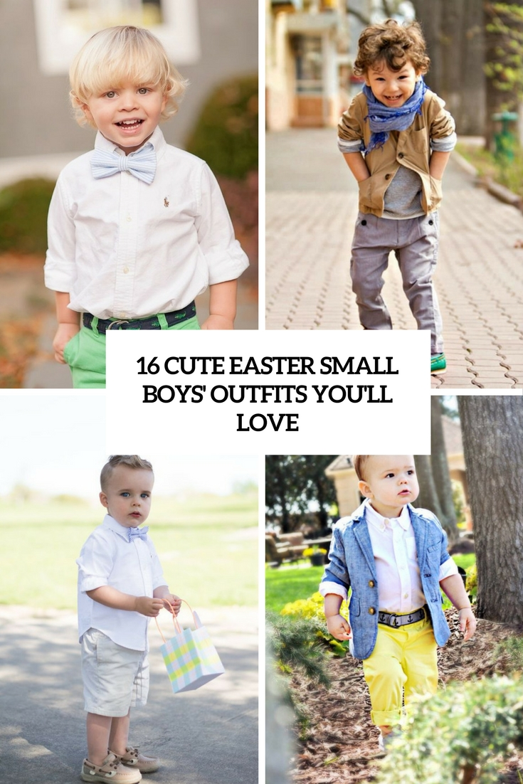 16 Cute Easter Small Boys' Outfits You'll Love