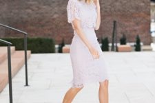 17 blush lace separate with nude heels