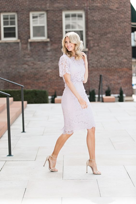 blush lace separate with nude heels