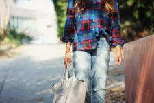 stylish ripped jeans look